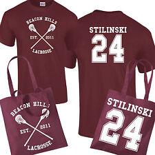 Beacon Hills Lacrosse Borsa & T-shirt Bundle Stiles Stilinski WOLF 24 Teen Unisex