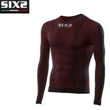 Maglia Girocollo Maglietta maniche lunghe Moto SIXS DARK RED 4 STAGIONI TS2