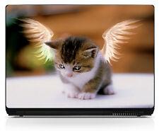 Sticker pc ordinateur portable Netbook autocollant chat Laptop réf 224