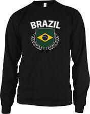 Brazil Shield Crest Branches Republica Federativa Do Brasil Long Sleeve Thermal