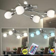 LED RVB couvrir verre lampe décor feuilles Chambre à coucher lumière