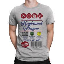 Teclado Para hombres Camiseta Reproductor Música Regalo Músico Festival Christma etiqueta del producto