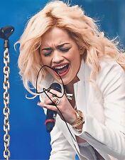 X FACTOR: RITA ORA SIGNED 10x8 SEXY LIVE PHOTO+COA *HOT RIGHT NOW* *RIP*