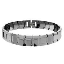 Men Women 12MM Tungsten CarbideRectangular Facetes Link Magnetic Bracelet