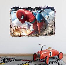 Ironman and Spiderman 3D Wall Decal Kids Removable Sticker Vinyl Decor Art DA92