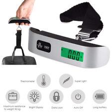 Handheld Travel Luggage Scale Digital LCD Display Weight 110lb/50kg Hook Hanging