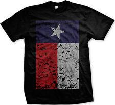 Texas Tejas Lonestar State Oversized Flag Distressed Vintage New Mens T-shirt