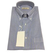 ICON LAB 1961 camisa de hombre media manga Rayas blanco/azul 100%algodón re