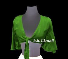 Hot Blouse Belly Dance Wrap Haut Ruffle Choli Tie Top PartyWear Green Color S29