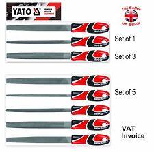 "YATO Professional Metal lungo 250mm (10 "") file Set 3 o 5 PC T12 yt-6237-9 ACCIAIO"