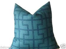 Schumacher Bleecker Pillow Cover in Peacock