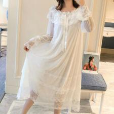 Lady Lolita Nightgown Lace Trims Vintage  Nightdress Sleepwear CasuaL