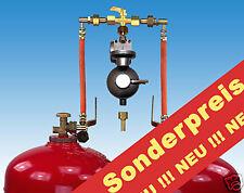 Zweiflaschenanlage / 2 Flaschenanlage 33 kg Gasflasche Druckminderer Gas