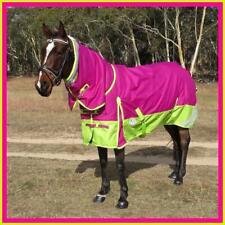 LOVE MY HORSE 600D 5'3 - 6'6 Summer Waterproof Rainsheet Combo Rug Pink / Lime