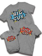 Big Guy petit gars Flash Stars T-shirt Homme Papa Fils bébé famille