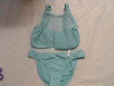 Blush by Profile Caught In the Net UW Bikini Top Sea Breeze & BOTTOM