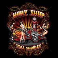 Body Shop Full Service Hot Rat Rod Pin Up Girls Classic Car Auto T-Shirt Tee