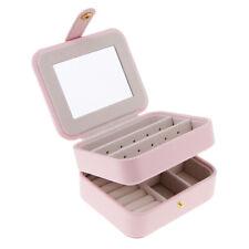 Little Jewellery Earrings Rings Box 2 Layer Mirror Storage Organizer Display