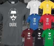 The Dude Mens T Shirt The Big Lebowski Funny Retro Comedy Film Tv Gift Present