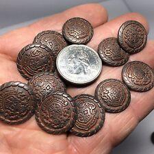 New Military Copper tone Antique Metal Crest  Buttons sizes 11/16 & 13/16  (AM2)