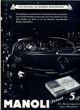 Manoli Privat--5 Pfenning -Für Raucher ,die besseres beanspruchen-Werbung-1937-
