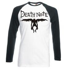 "Death NOTE ""RYUK Silhouette LOGO"" Raglan Maniche LUNGHE Baseball T-shirt"