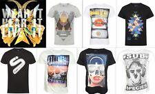 Mens T-Shirt Slim Fit Electro Club Rave Dance Techno House Ibiza Festival