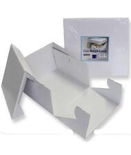 1 x Cartón Plegable Cuadrado Blanco PME Pastel Hornear Caja Contenedor de elevación de la tapa