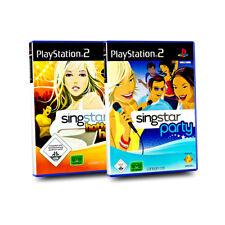2 PlayStation 2 Spiele : SINGSTAR HOTTEST HITS + SINGSTAR PARTY - Spielebundle