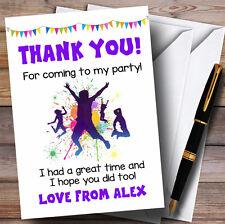 Groupe de Trampoline Splash couleur cartes de remerciements