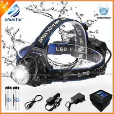 Head Headlamp Torch 18650 Flashlight Led Light Headlight T6 L2 Lamp Zoomable Set