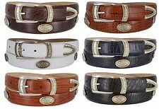 "Golf Classic - Italian Calfskin Genuine Leather with Conchos Golf Belt, 1-1/8"""