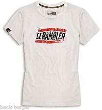 DUCATI SCRAMBLER Moab Camiseta para Señoras Top Manga Corta Lady blanco NUEVO
