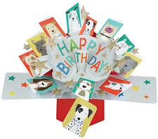 Segunda naturaleza Perros feliz cumpleaños y todas las ocasiones Tarjetas Recuerdo Pop Up