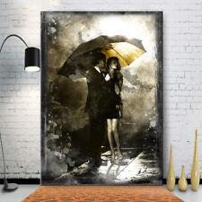 ABSTRAKTE BILDER AUF LEINWAND Pärchen Regensch Regen Erotik WANDBILDER XXL 2098A