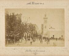 2 Photos ND Alger c. 1875 - Place Gouvernement Palais Archiépiscopal