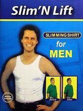 Slim'N Lift Men's Slimming Shirt Tummy Shaper Belly Underwear Shapewear w/ Box
