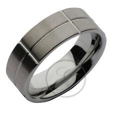 tungsteno anello Progettato piatta FEDE COMODA Fede nuziale 8mm