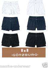2er Pack GÖTZBURG Boxershorts Pants S-3XL Retro Hipster schwarz, weiß, blau