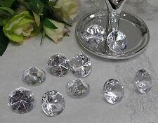 10-50 x Deko Diamanten Acryl Dekosteine klar Ø 3cm Edelstein Streudeko Tischdeko