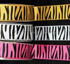 Tiger Print Grosgrain Ribbon 5/8 inch x 1 yard (3 ft of cut ribbon)