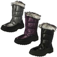 Girls H4071 Black Sn0W Boots By Reflex Retail Price