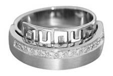 Designerring Weißgold 585 mit Brillant Ring Gold 14kt - Damenring - Brillantring