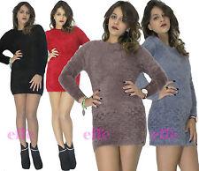 Miniabito donna vestito  maglione Maxipull abito corto nuovo 823