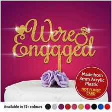 Nos comprometemos Cake Topper compromiso Pastel Wedding Cake Topper brillo acrílico