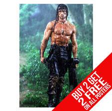 Rambo First Blood 2 Affiche CC1 Imprimé A4 A3 Taille - Acheter 2 Get Importe 2