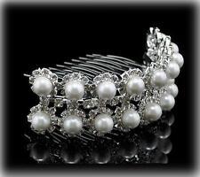 Haarkammn Tiara Haircomb Bridal jewelery Diadem Brautschmuck Strass silberfarbee
