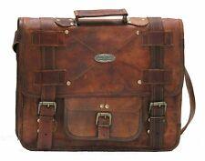 Handmade_World Men's Leather Messenger Laptop Briefcase Satchel Bag Shoulder Bag