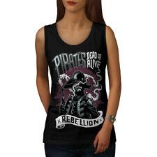 Pirate Skeleton Horror Women Tank Top NEW | Wellcoda