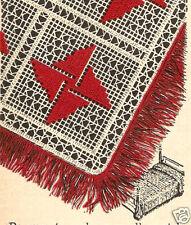 PRETTY Vintage Pinwheel Bedspread/Crochet Pattern